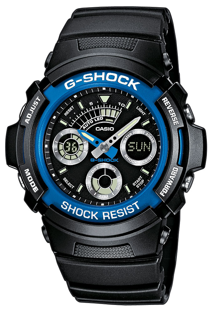 g shock herren uhr casio aw 591 2aer blue devil resin. Black Bedroom Furniture Sets. Home Design Ideas