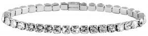 Akzent Armkettchen Armband 17 cm Crystalbesatz silberfarbig