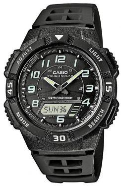 Casio Uhr AQ-S800W-1BVEF Solaruhr Ana-Digi Uhr schwarz