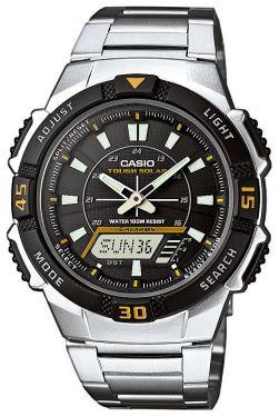 Casio Uhr AQ-S800WD-1EVEF Solaruhr Ana-Digi Uhr silber