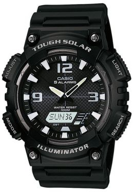 Casio Uhr AQ-S810W-1AVEF Solaruhr Ana-Digi Collection schwarz