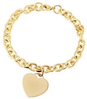 Edelstahl Armband Herz 21 cm Akzent Armband golden