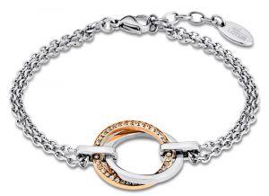 Lotus Style Armband 2-reihig Ringe LS1780-2/2 Ankerkette 20,5 cm bicolor