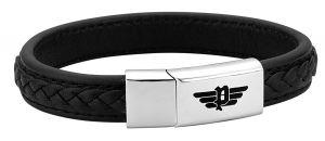 Police Leder Armband schwarz PJ26268BLB.01-L