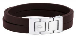 Police Leder-Edelstahl-Armband braun PJ26319BLSC.02