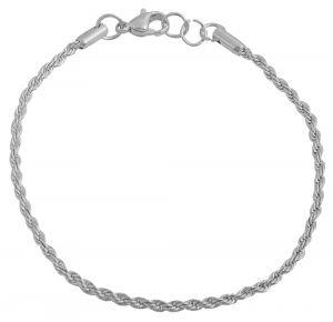 Edelstahl Kordel Armband glänzend 18 cm