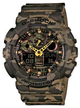 Casio G-Shock Uhr AnaDigi-Armbanduhr GA-100CM-5AER