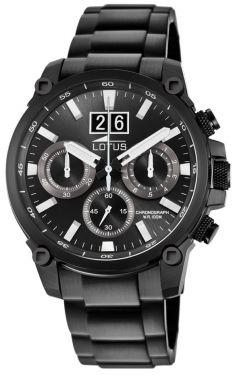Lotus Herrenuhr Armbanduhr Edelstahlband schwarz 10141/3