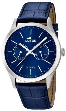 Lotus Herrenuhr Armbanduhr Lederarmband blau 15956/5