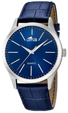 Herrenuhr Lotus Armbanduhr 15961/A Lederarmband blau