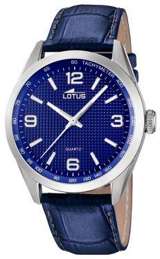 Lotus Uhr Herren Armbanduhr Lederband blau 18149/4