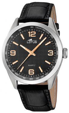 Lotus Uhr Herren Armbanduhr Lederband schwarz 18149/6