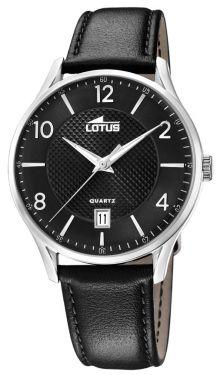 Lotus Herren Armbanduhr  Lederband schwarz 18402/C