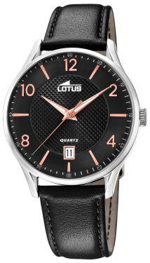 Lotus Herren Armbanduhr Lederband schwarz 18402/F