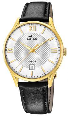 Lotus Herren Armbanduhr Lederband schwarz 18403/A