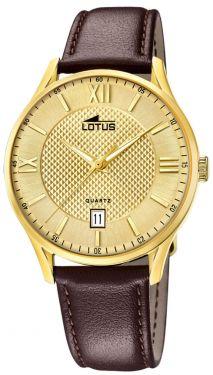Lotus Herren Armbanduhr Lederband braun 18403/B