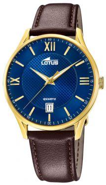Lotus Herren Armbanduhr Lederband braun 18403/C