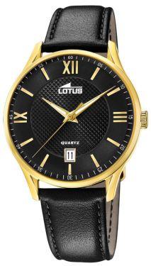 Lotus Herren Armbanduhr Lederband schwarz 18403/D