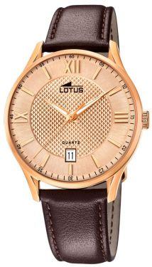 Lotus Herren Armbanduhr Lederband braun 18404/B