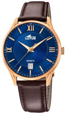 Lotus Herren Armbanduhr Lederband braun 18404/C