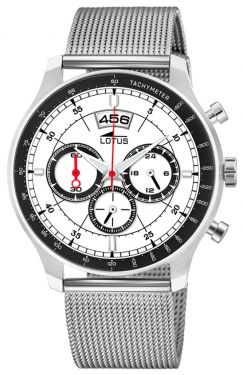 Lotus Herren Armbanduhr Chronograph Milanaisearmband 10138/1
