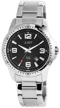 Just Watch Herren Uhr 48-S6642-BK silber schwarz Edelstahl Datum 10ATM