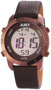 Just Watch Herren Digital Uhr 48-S10876-BR braun Lederarmband 44 mm