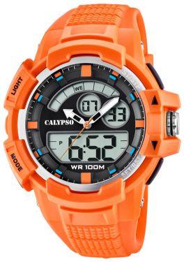 Calypso Armbanduhr PU-Armband orange K5767/1 AnaDigi Uhr