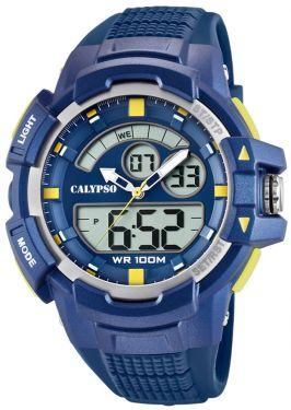 Calypso Armbanduhr PU-Armband blau K5767/2 AnaDigi Uhr