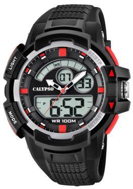 Calypso Armbanduhr PU-Armband schwarz K5767/3 AnaDigi Uhr