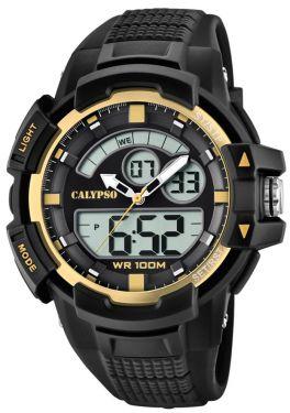 Calypso Armbanduhr PU-Armband schwarz K5767/4 AnaDigi Uhr