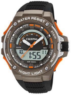 Calypso Armbanduhr Herrenuhr PU-Band schwarz K5768/2 AnaDigi Uhr