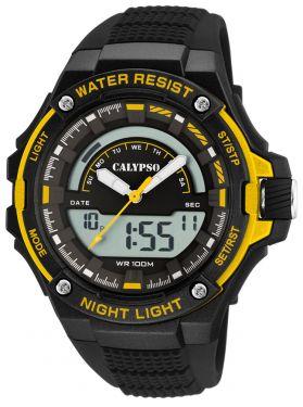 Calypso Armbanduhr Herrenuhr PU-Band K5768/4 AnaDigi Uhr