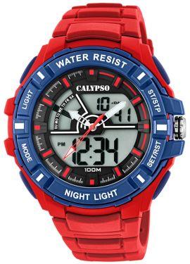 Calypso Watch Herrenuhr AnaDigi Armbanduhr rot K5769/3