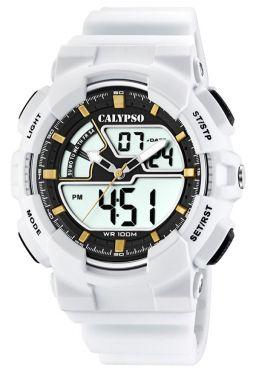 Calypso Digital Armbanduhr Herrenuhr weiß K5771/1