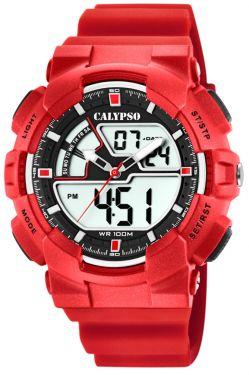 Calypso Digital Armbanduhr Herrenuhr rot K5771/2