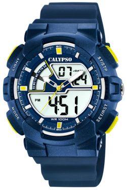 Calypso Digital Armbanduhr Herrenuhr blau K5771/3