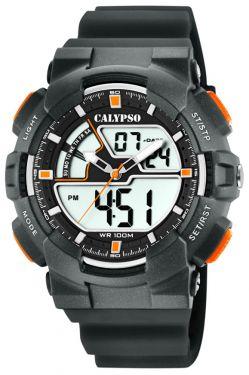 Calypso Digital Armbanduhr Herrenuhr schwarz K5771/4