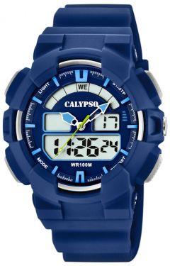 Calypso Digital analog Armbanduhr blau K5772/3