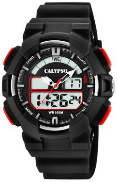 Calypso Digital analog Armbanduhr schwarz K5772/4