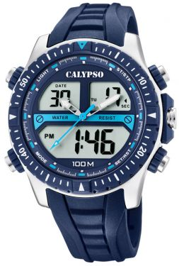 Calypso Watch Armbanduhr Herrenuhr AnaDigi Uhr K5773/2 blau