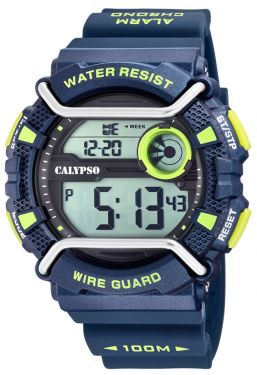 Calypso Armbanduhr Digital Uhr K5764/3 blau Sportuhr Unisex
