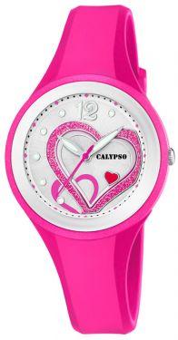 Calypso Mädchen Damen Armbanduhr Herz K5751/3 Girls Watch pink