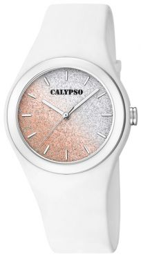 Calypso Mädchen Damen Armbanduhr K5754/1 Bicolor glitzernd