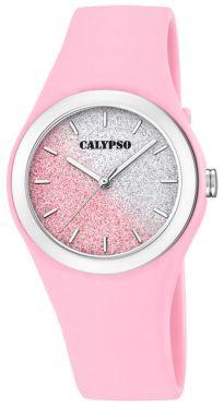 Calypso Mädchen Damen Armbanduhr K5754/3 rosa Bicolor glitzernd