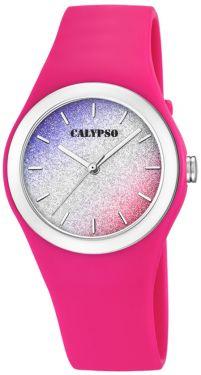 Calypso Mädchen Damen Armbanduhr K5754/5 pink multicolor glitzernd