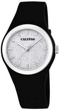Calypso Mädchen Damen Armbanduhr K5754/6 schwarz glitzernd