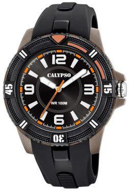 Calypso Herreuhr Armbanduhr K5759/6 schwarz braun Watch