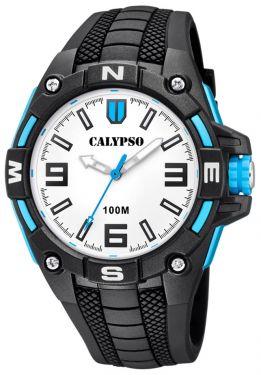 Calypso Herrenuhr Armbanduhr K5761/1 schwarz blau