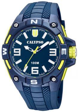 Calypso Herrenuhr Armbanduhr K5761/2 blau